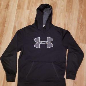 Under armour black logo hooded sweatshirt